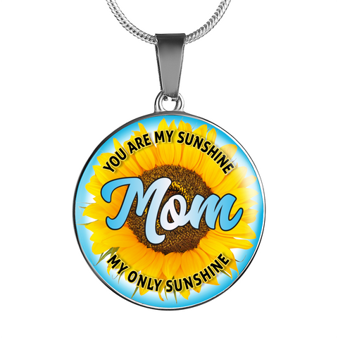 Image of Best Gifts for Mothers Mom You Are My Sunshine My Only Sunshine Necklace Gift for Mom