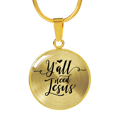 "Faith Gift Pendant and Bracelet, ""Y'all Need Jesus"" Bible Verse Gifts"