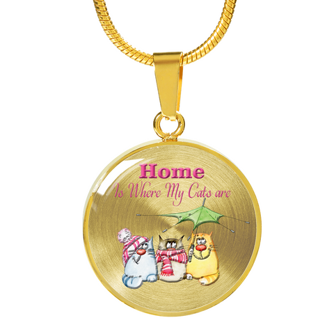 "Image of Funny Cat Lady Gift, ""Home is Where My Cats Are"" Crazy Cat Lady Gift She Will Adore"