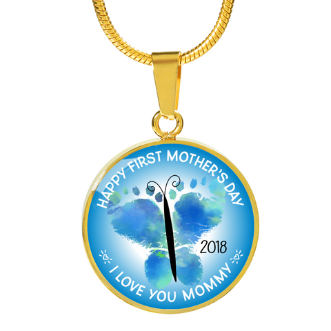 First Mother's Day Gifts Happy First Mother's Day 2018 I Love You Mommy Necklace for Mom