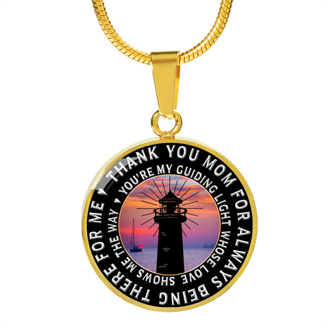 Unique Mothers Day Gifts Birthday Gifts Thank you Mom For Being There Pendant