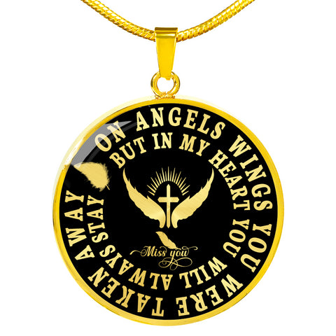 Angel Wings In Loving Memory Luxury Pendant Gift Memorial Necklace