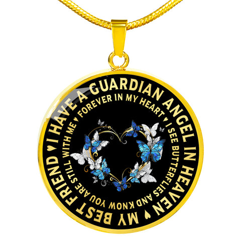 Best Friend Memorial Luxury Pendant Gift Guardian Angel in Heaven Necklace