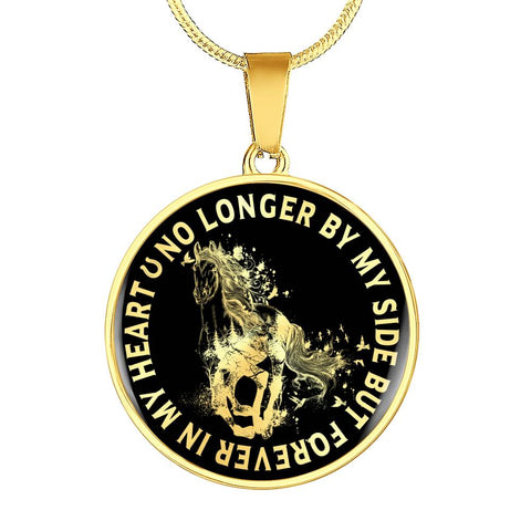 Horse Remembrance Pendant No Longer By My Side But Forever in My Heart Pet Memory Gift Necklace