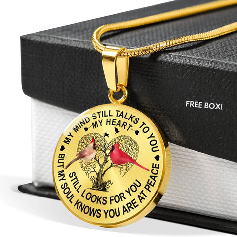 My Mind Still Talks to You Cardinal Memorial Necklace keepsake
