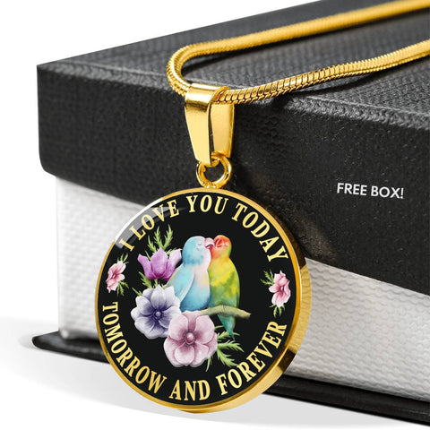 I Love You Lovebird Luxury Pendant Gift Today Tomorrow Forever