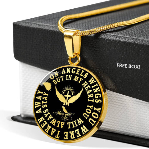Image of Angel Wings In Loving Memory Luxury Pendant Gift Memorial Necklace