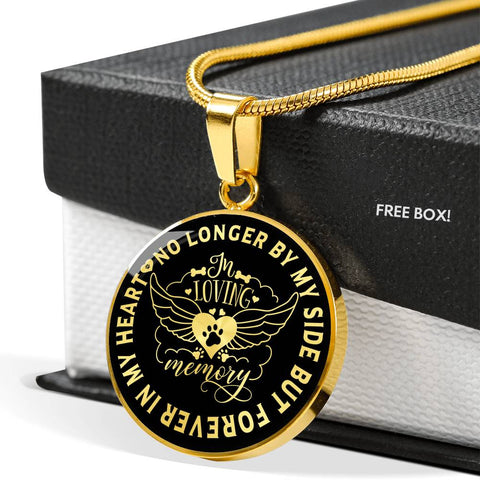 In Loving Memory Dog Luxury Pendant Gift Pet Memorial Keepsake Necklace
