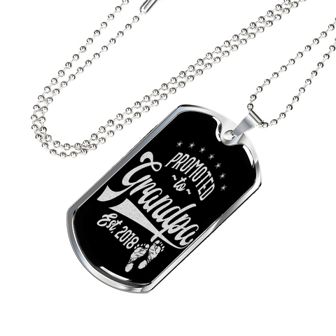 Proud Grandpa Gifts Promoted to Grandpa 2018 Gift Necklace for New Grandfather
