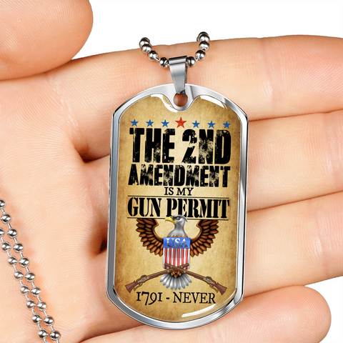 2nd Amendment Gifts for Men The 2nd Amendment is My Gun Permit Since 1791-Never