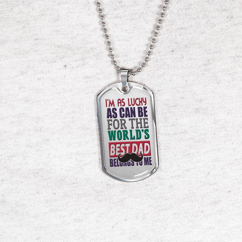 The Best World's Dad Ever Jewelry Gifts The Father My Friend Necklace Dog Tags