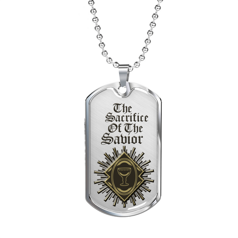 Christian Faith Gifts for Men The Sacrifice of the Savior Men's Bible Gifts Dog Tags