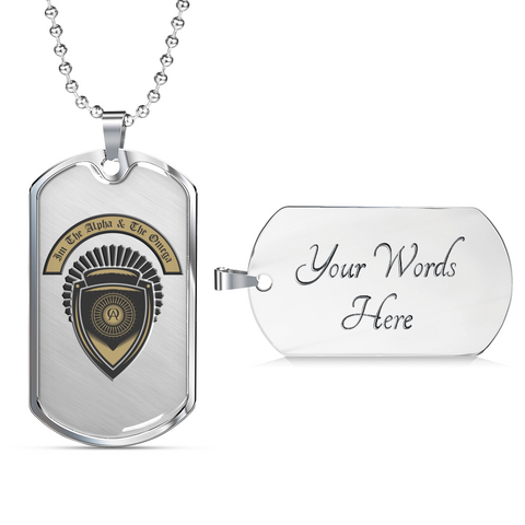 Christian Faith Gifts I'm the Alpha and the Omega Dog Tag Ball Chain Bible Gifts for Men