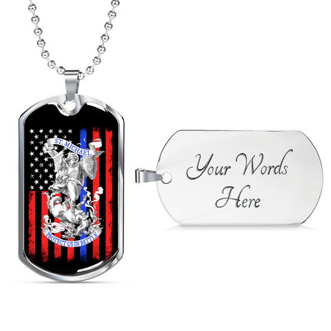St Michael Prayer Pendant Necklace For Men Women Archangel Protect Us Jewelry Gifts