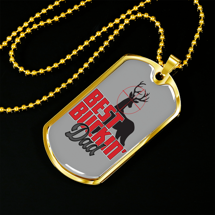 Fun Hunting Gift Necklace Best Buckin Dad Fathers Day Gifts Birthday Presents Daddy