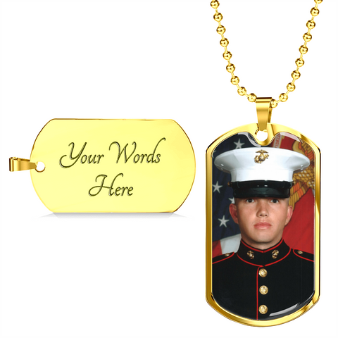 Buyer Upload Your Image Dog Tag for Men - Customized Personalized Dog Tag Necklace  Jewelry for Men