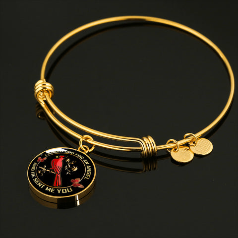 I Asked God for An Angel Cardinal Luxury Bangle Gift He Sent Me You Bracelet