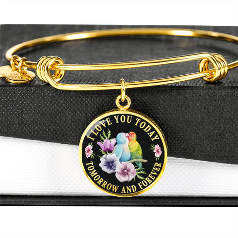 Image of I Love You Lovebird Luxury Bracelet Gift Today Tomorrow Forever