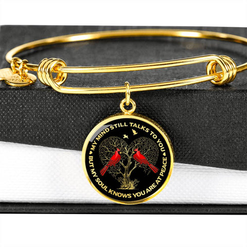 Bestseller Cardinal Memory Bracelet My Mind Still Talks You Sympathy Remembrance Keepsake Bangle