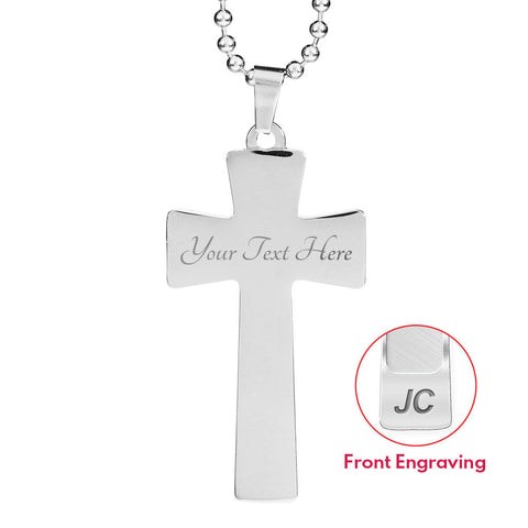 Give God Your Weakness Faith Cross Necklace Gift For Men He'll Give You His Strength Pendant