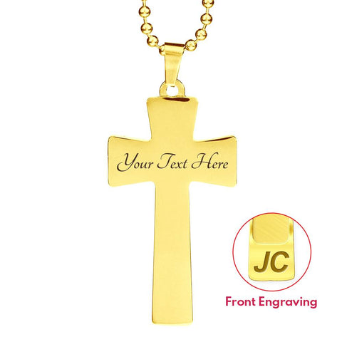 Mother In Remembrance Gift Cross Pendant I Have a Guardian Angel in Heaven I Call Her Mom Memory Jewelry Necklace for Men