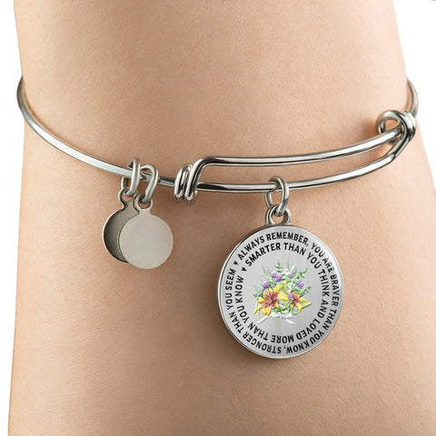 "Gift for Daughter or Grandchild, ""Always Remember You Are Braver Than You Know..."