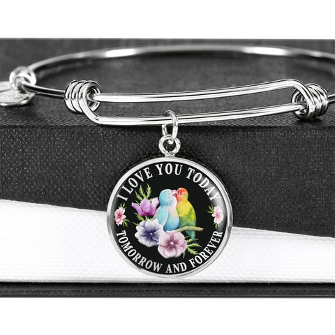 I Love You Lovebird Luxury Bracelet Gift Today Tomorrow Forever