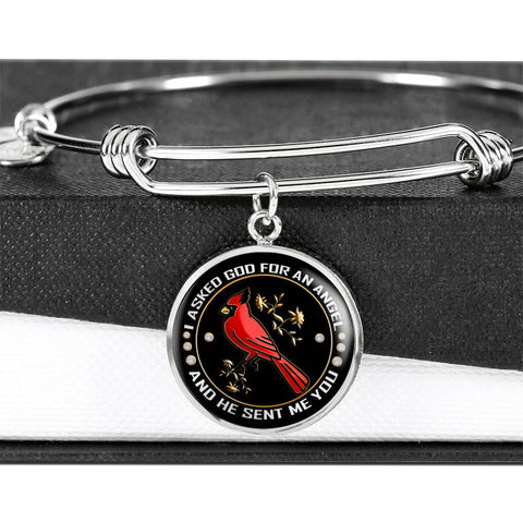 I Asked God for An Angel Cardinal Luxury Bracelet Gift He Sent Me You Bangle