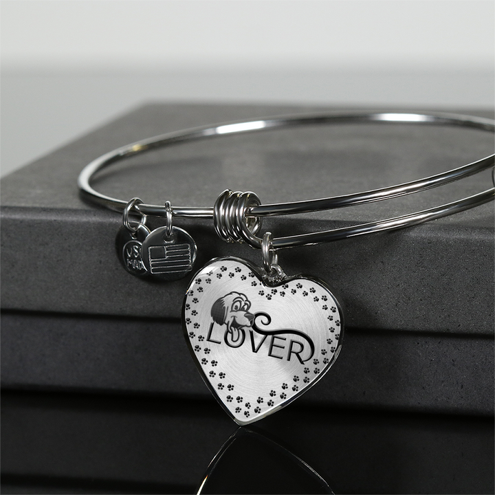 Dog Lover Heart Pendant and Bracelet For The Dog Lover in Your Family