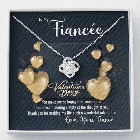 Fiancée Future Wife Love Knot Necklace Happy Valentine's Day Gift Message Card Keepsake