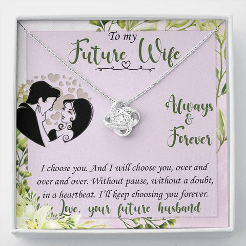 Future Wife Love Knot Necklace Anytime Surprise Gift Pendant For Fiancée