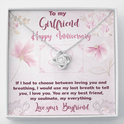 Girlfriend Anniversary Love Knot Pendant Gift A Bond Between Two Souls That Can Never Be Broken Necklace