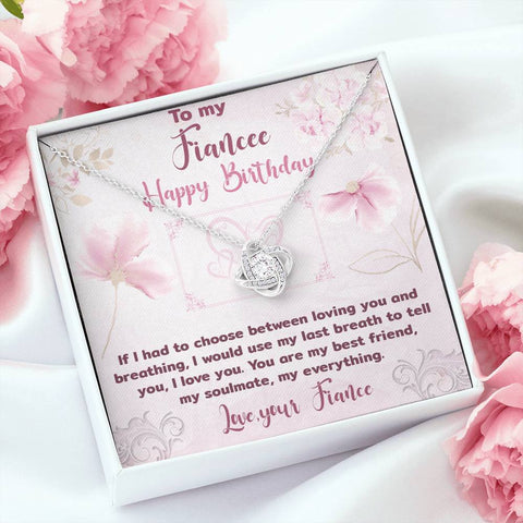 Fiancee Happy Birthday Love Knot Pendant Gift A Bond Between Two Souls That Can Never Be Broken Necklace
