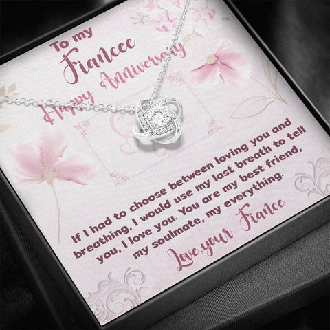 Fiancee Anniversary Love Knot Pendant Gift A Bond Between Two Souls That Can Never Be Broken Necklace