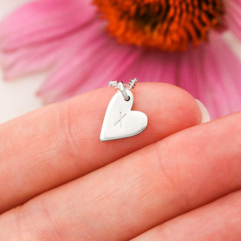 Remembrance Heart Necklace My Mind Still Talks to You Cardinal Sterling Silver/18k Gold Pendant