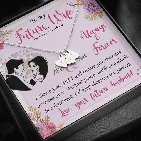 Future Wife Sweetheart Heart Necklace Anytime Surprise Gift Pendant For Fiancée