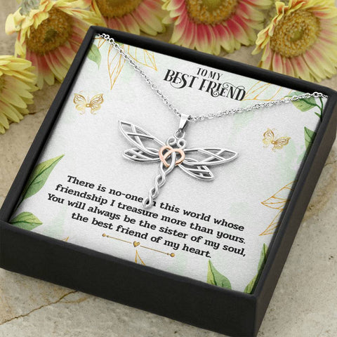 Best Friend Dragonfly Necklace Gift for Soul Sisters