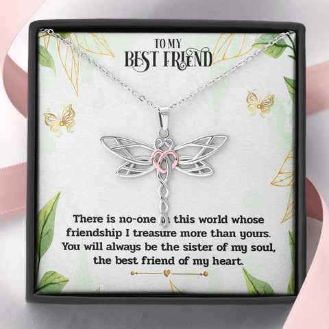 Image of Best Friend Dragonfly Necklace Gift for Soul Sisters