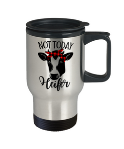 Not Today Heifer Mug With Lid Funny Dairy Farmer Cow Lover Novelty Birthday Christmas Gift Coffee Tea Cup