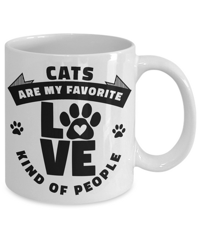 Cats Are My Favorite Kind of People Mug Ceramic Coffee Cup