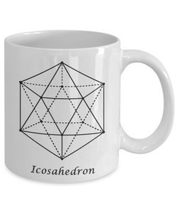 Sacred Geometry Coffee Mug Gifts Icosahedron Ceramic Cup