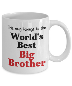 World's Best Big Brother Mug Family Gift Novelty Birthday Thank You Appreciation Ceramic Coffee Cup