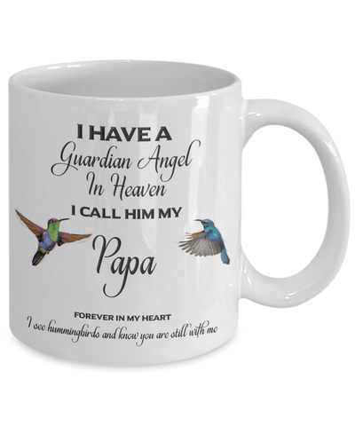 "Image of Papa Memorial Gift I Have a Guardian Angel in Heaven I Call Him My Papa.."" Dad Remembrance"