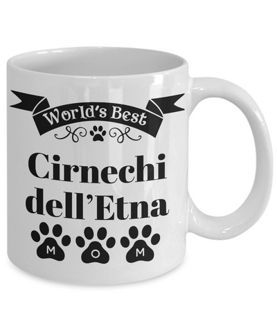 Image of World's Best Cirnechi dell'Etna Dog Mom Mug Fun Novelty Birthday Gift Work Coffee Cup