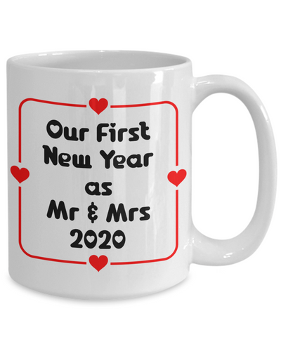 Image of Our First New Year Married Mug Gift Mr & Mrs 2020 Gift for Newlyweds