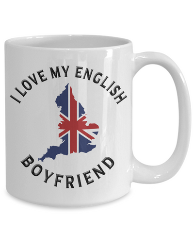 I Love My English Boyfriend Mug Novelty Birthday Gift Ceramic Coffee Cup