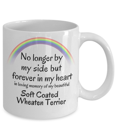 Image of Soft Coated Wheaten Terrier Memorial Gift Mug No Longer By My Side Pet Remembrance