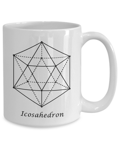 Image of Sacred Geometry Coffee Mug Gifts Icosahedron Ceramic Cup