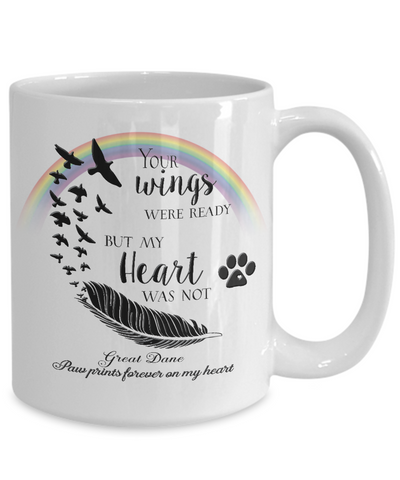 Image of Great Dane Bereavement Memorial Gifts Your Wings Were Ready... Great Dane Remembrance Gift