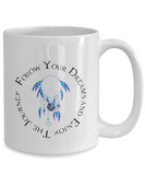 Follow Your Dreams and Enjoy The Journey Dream Catcher Gift Mug